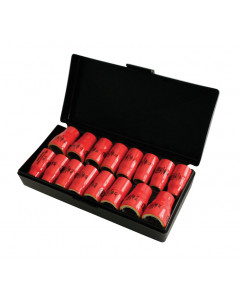 "Insulated 3/8"" Drive Socket 16 Piece Inch/Metric Set"