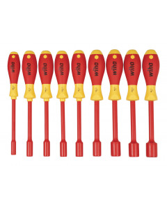 Insulated Nut Driver 9 Piece Inch Set in Roll-up Pouch