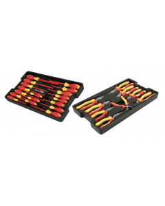 Insulated Pliers/Cutters/Screwdrivers in Tray 28 Piece Set