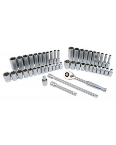 "49-Piece 1/4"" Drive MM and SAE Socket Set"