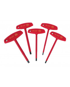 5 Piece Insulated T-Handle Hex Screwdriver Set - Metric