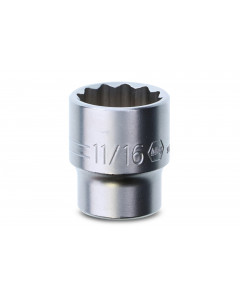 "3/8"" Drive Socket, 12 Point, 11/16"""