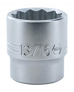 "3/8"" Drive Socket, 12 Point, 13/16"""