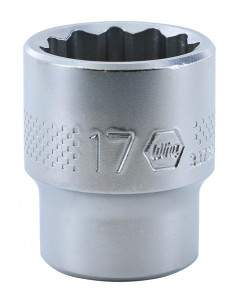 "3/8"" Drive Socket, 12 Point, 17.0mm"