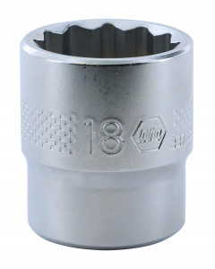"3/8"" Drive Socket, 12 Point, 18.0mm"