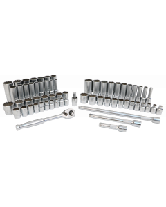 "63-Piece 3/8"" Drive MM and  SAE Socket Set"