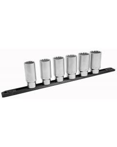"""1/2 Inch Drive 12 Point Deep Socket Set 3/8 to 1-1/4"""" with Ratchet and Extensions 19-Piece"""