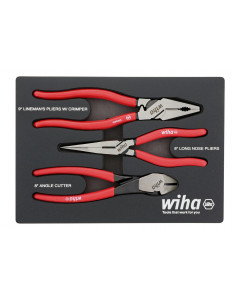 3 Piece Classic Grip Pliers and Cutters Tray Set