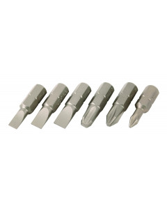 Slotted/Phillips Insert Bits 6 Pack