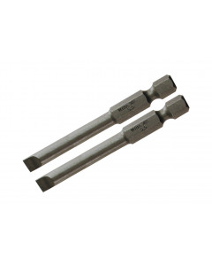 Slotted Power Bit 3.0 x 70mm Pack of 2 Bits