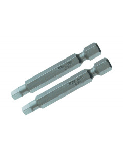 Square Power Bit #2 x 50mm Pack of 2 Bits