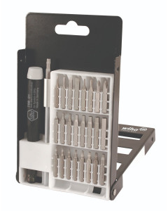 27 Piece System 4 Micro Bit Set in Metal Box with Slotted, Phillips, Hex Inch, Torx® bits