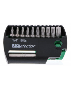 11 Piece Torx Xselector and Magnetic Bit Holder Set - T7 - T40