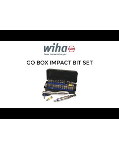 compact impact bit set with ratchet and holder