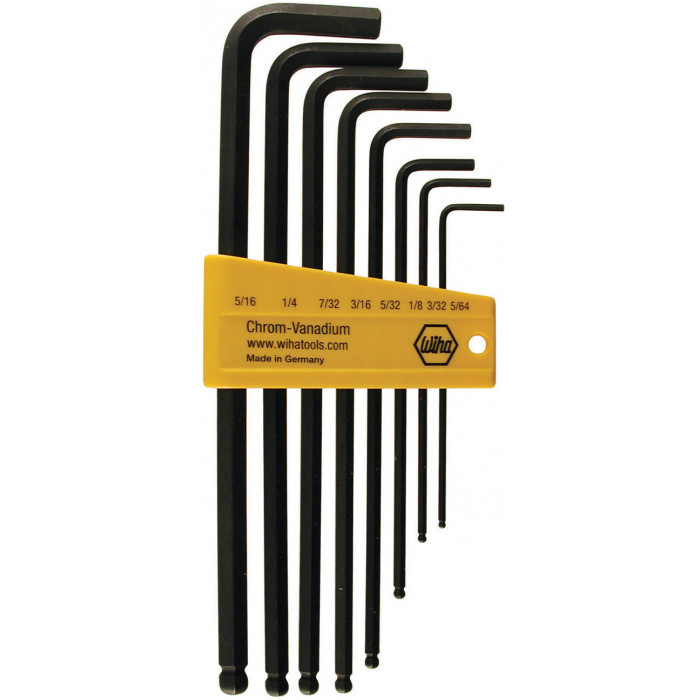 8 Piece Ball End Long Arm Hex L-Key Set
