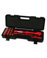 """Insulated 3/8"""" Drive Ratcheting Torque Wrench Inch Socket Set"""