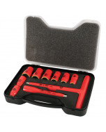 """Insulated 3/8"""" Drive T-Handle and Inch Sockets 10 Piece Set"""