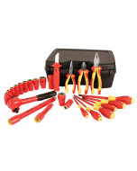 "Insulated Set 24 Pieces With 1/2"" Drive Sockets 8 to 24mm"