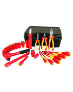 """Insulated Set With 1/2"""" Drive Sockets 3/8"""" to 1""""  24 Pieces"""