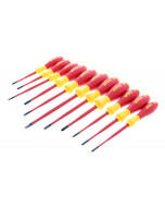 Insulated SlimLine Slotted, Phillips, Square and Xeno Screwdrivers 11 Piece Set