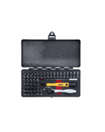 Master Tech 65 Piece Set - ESD Handle, Mini Ratchet and MicroBits In Metal Storage Box